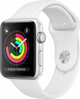 Купить Умные часы APPLE Watch Series 3 38mm Silver Aluminium Case with White Sport Band (MTEY2RU/A)