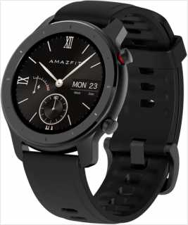 Купить Часы Amazfit GTR 47mm aluminium case, leather strap brown