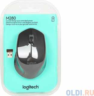 Купить Мышь (910-004287) Logitech Wireless Mouse M280 Black EWR